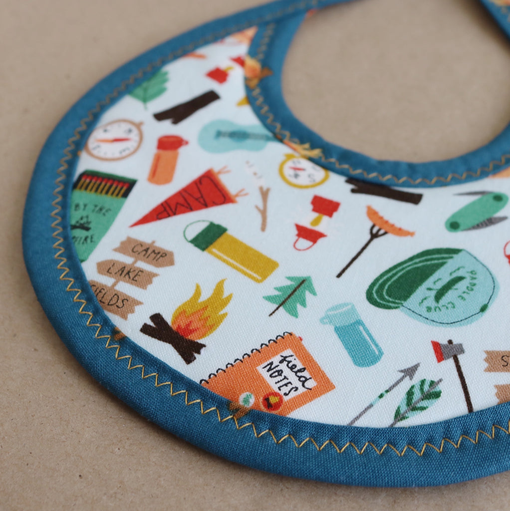 Going Camping Tie Drool Bib