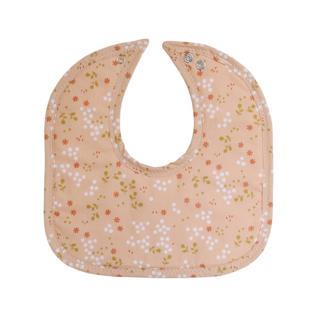 Peachy Keen Floral Mini Bib