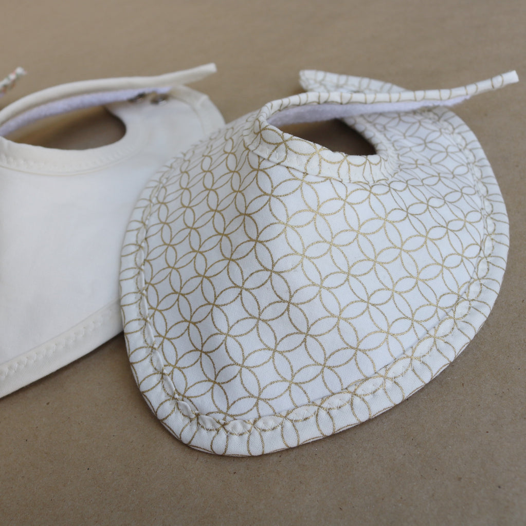 Golden Shapes Drool Bib