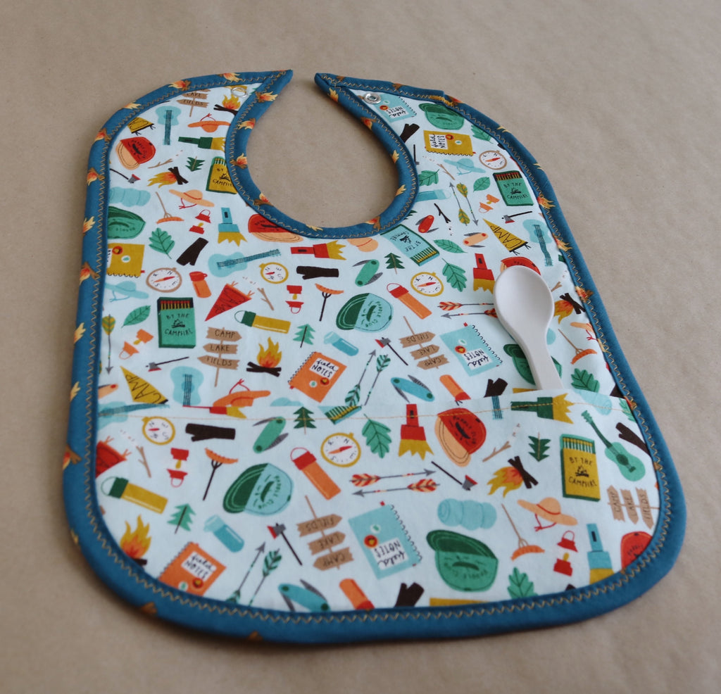 Going Camping Pocket Bib