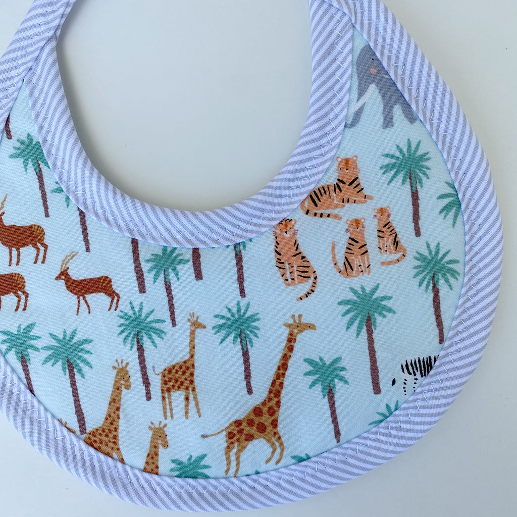 Wild Animals Tie Drool Bib