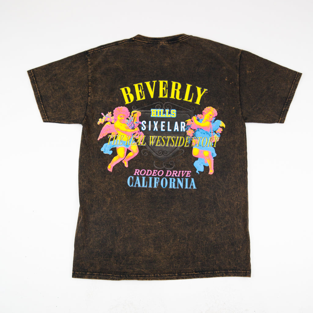 SIXELAR - Beverly Hills Tee Acid - Acid Wash
