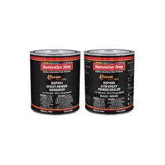 Black Epoxy Primer/Sealer 2.1 VOC (1 Quart Kit) Anti-Corrosive DTM High-Performance Primer for Automotive and Industrial use Kit = 1 Pint Epoxy Primer +1 Pint. Epoxy Hdr.  (1-1 Mix)