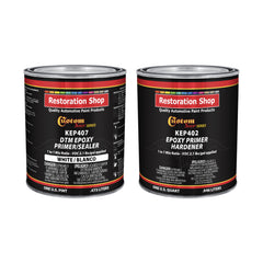 White Epoxy Primer/Sealer 2.1 VOC (1/2 Gallon Kit) Anti-Corrosive DTM High-Performance Primer for Automotive and Industrial use Kit = 1 Qt. Epoxy Primer +1 Qt. of Epoxy Hdr.(1-1 Mix)