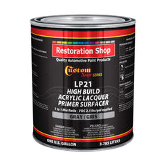 Custom Shop Premium High Build Acrylic Lacquer Primer Surfacer, 1 Gallon - Fast Filling, Drying, Easy Sanding, Excellent Adhesion - Apply Over Metal Steel, Body Filler Putties, Automotive Industrial