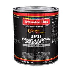 Custom Shop Premium Self Etching Acid Etch Primer, 1 Gallon - Ready to Spray Paint, Excellent Adhesion to Bare Metal, Steel, Aluminum, Fiberglass - Use on Automotive Car Parts, OEM Industrial Coating