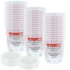 Pack of 36 - Mix Cups - Quart size - 32 ounce Volume Paint and Epoxy Mixing Cups - Mix Cups Are Calibrated with Multiple Mixing Ratios