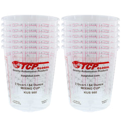 Pack of 12 - Mix Cups - Half Gallon size - 64 ounce Volume Paint and Epoxy Mixing Cups - Mix Cups Are Calibrated with Multiple Mixing Ratios