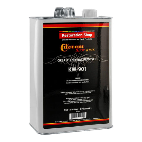 Restoration / Custom Shop KW901 - Automotive Grease and Wax Remover Surface Prep Cleaner for before Automobile Painting and all Painting Projects (GALLON)
