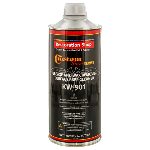 Restoration / Custom Shop KW901 - Automotive Grease and Wax Remover Surface Prep Cleaner for before Automobile Painting and all Painting Projects (QUART)