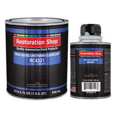 Low VOC High Gloss Urethane Clearcoat Quart Kit for Basecoat Auto Paint System
