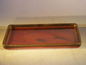 Parisian Red Rectangular Ceramic Humidity / Drip Tray