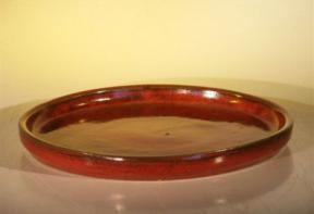 Parisian Red Round Humidity/Drip Tray - Bonsai Creek