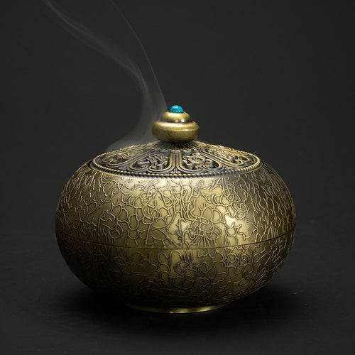 Metal Nepalese Incense Burner