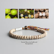 "Load image into Gallery viewer, ""Moon and Stars"" Bodhi Seed Mala Bracelet - Bonsai Creek"