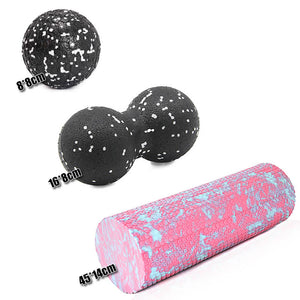 Massage Therapy Foam Ball & Roller Set