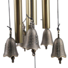 Load image into Gallery viewer, Vintage Feng Shui Copper Bells and Lucky Coin Wind Chime