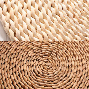 Braided Circular Corn Husk Zafu Meditation Cushion