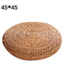 Load image into Gallery viewer, Braided Circular Corn Husk Zafu Meditation Cushion