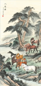Eight Horses - Xu Beihong