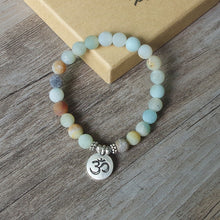 Load image into Gallery viewer, Handmade Amazonite Stone Mala Bracelet - Bonsai Creek