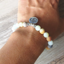 Load image into Gallery viewer, Handmade Amazonite Stone Mala Bracelet