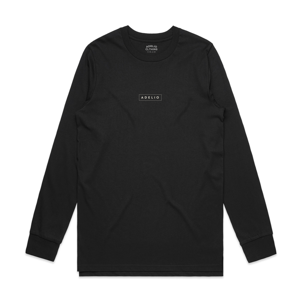 Adelio Long Sleeve Box Car Logo Tee