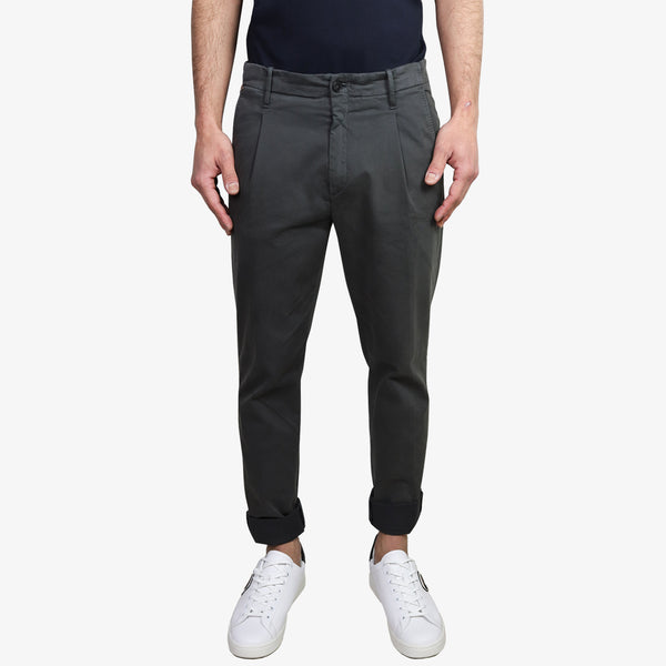 LAB PAL ZILERI - Slim Cropped Trousers Dark Grey - Shop at PURO Dublin, Ireland.