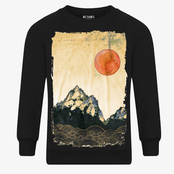 KO SAMUI - Sweatshirt Mountains Black - Shop at PURO Dublin, Ireland.