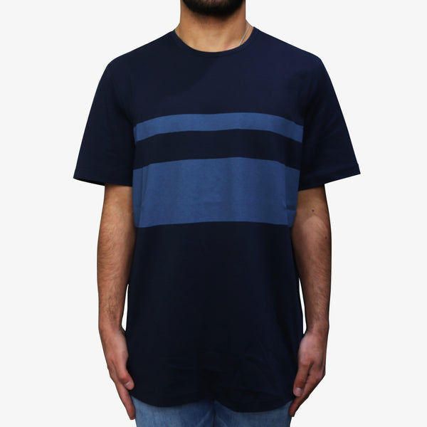LAB PAL ZILERI - Stripe Over-Sized T-Shirt Navy - Shop at PURO Dublin, Ireland.