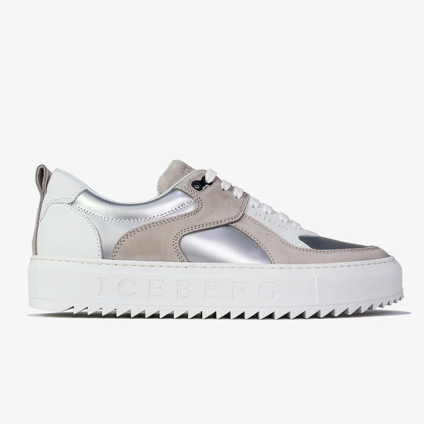 ICEBERG - Shark Sole Metallic Sneakers - Shop at PURO Dublin, Ireland.