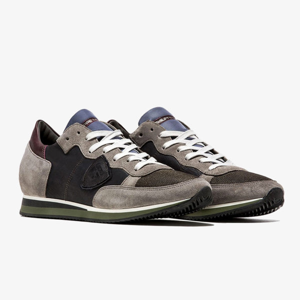 PHILIPPE MODEL - Tropez Mondial Leather Grey/Green - Shop at PURO Dublin, Ireland.