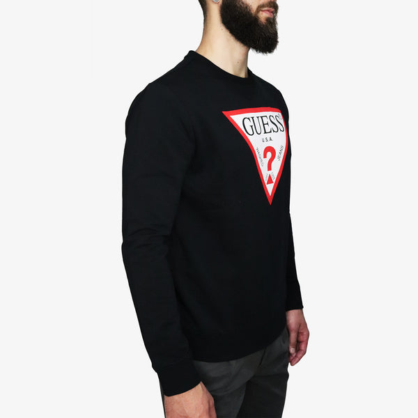 GUESS - Triangle Logo Fleece Black - Shop at PURO Dublin, Ireland.