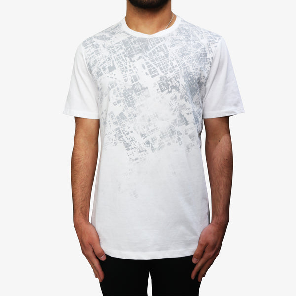 LAB PAL ZILERI - Arial City Pattern T-Shirt White - Shop at PURO Dublin, Ireland.
