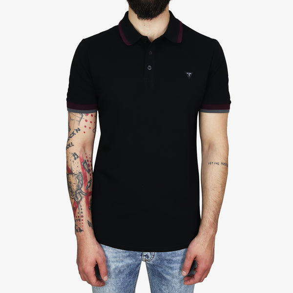 GUESS - Triangle Patch Logo Polo Black - Shop at PURO Dublin, Ireland.