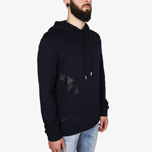 ROBERTO CAVALLI - Cavalli Class Snake Hooded Sweatshirt Navy - Shop at PURO Dublin, Ireland.