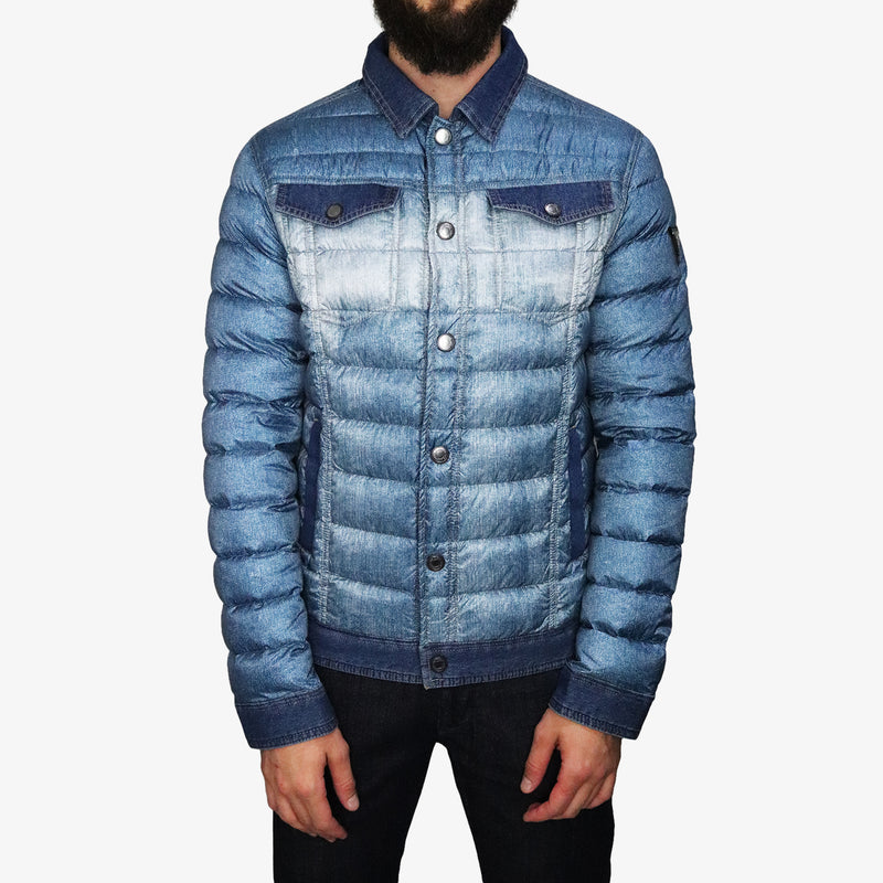 GUESS - Printed Denim Puffa - Shop at PURO Dublin, Ireland.
