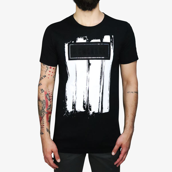 GUESS - Grunge Suede Paint T-shirt Black - Shop at PURO Dublin, Ireland.