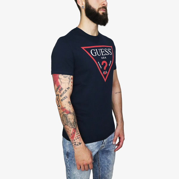 GUESS - Triangle Logo T-shirt Navy - Shop at PURO Dublin, Ireland.