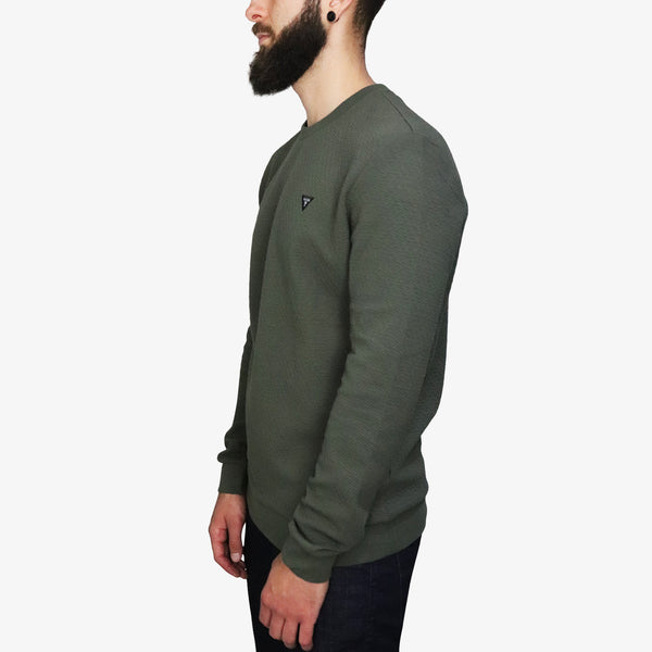 GUESS - Long Sleeve Fleece Olive - Shop at PURO Dublin, Ireland.