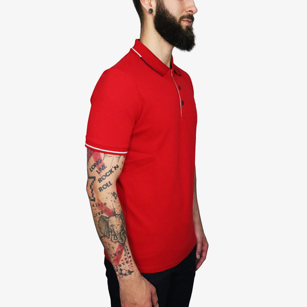 GUESS - Triangle Patch Logo Polo Red - Shop at PURO Dublin, Ireland.