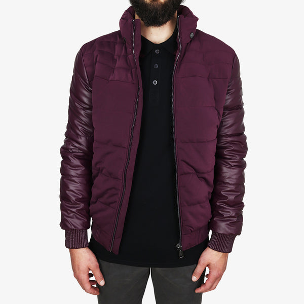 GUESS - Stretch Puffa Jacket Burgundy - Shop at PURO Dublin, Ireland.