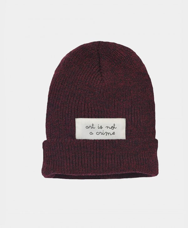 KO SAMUI - Beanie ART I.N.A.Crime Burgundy - Shop at PURO Dublin, Ireland.