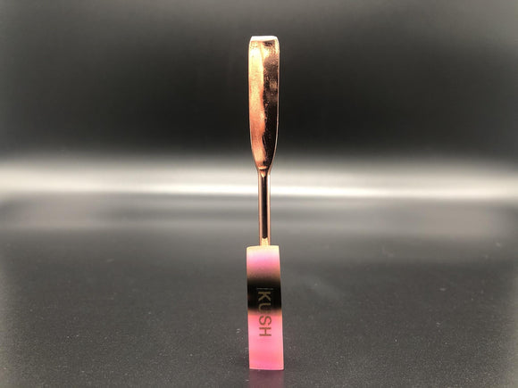 Pink/Black w/ Gold Anodized Blade Dab Tool w/ UV Light Capabilities | Kush Kush Tools