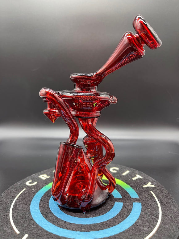 Rich Villa Glass 10mm Recycler #02
