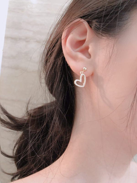 Hollow Heart Earring