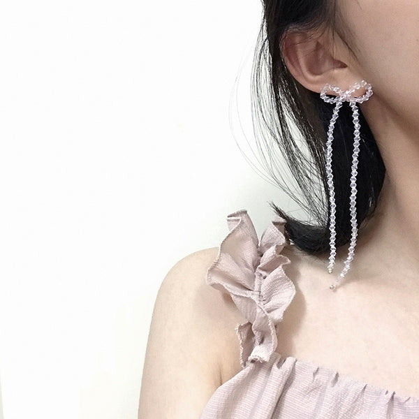 Asymmetrical Bow Single Earrings