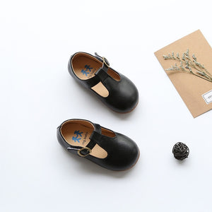High quality children leather shoes kids footwear girls vintage single shoes school  flat shoes