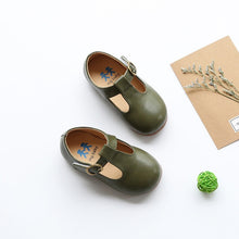 Load image into Gallery viewer, High quality children leather shoes kids footwear girls vintage single shoes school  flat shoes