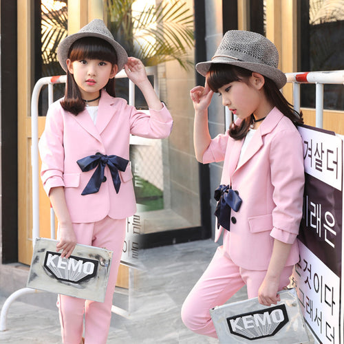 2018 Autumn Baby Girls Outfits Clothing Suits Children Tracksuit Sets Childrens Clothing Sets Girl Spring Suit Clothings S85102A